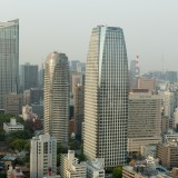 Tokyo Tower View: Toranomon Hills, Atago Green Hills Forest Tower and  Mori Buildings