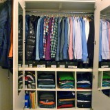 My wardrobe, now tidy