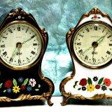 Reuge musical movement vintage clocks - 4.5 inches in height