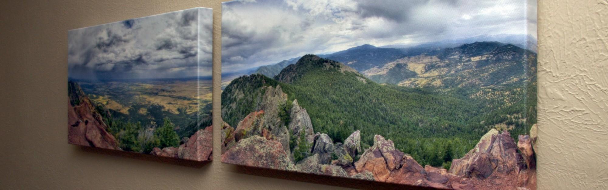 Wie kann ich Fotos auf eine Leinwand drucken lassen?